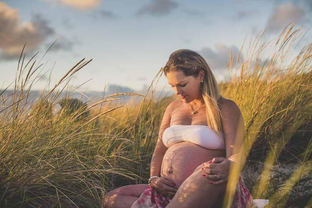 gravid fotografering udendørs Viborg